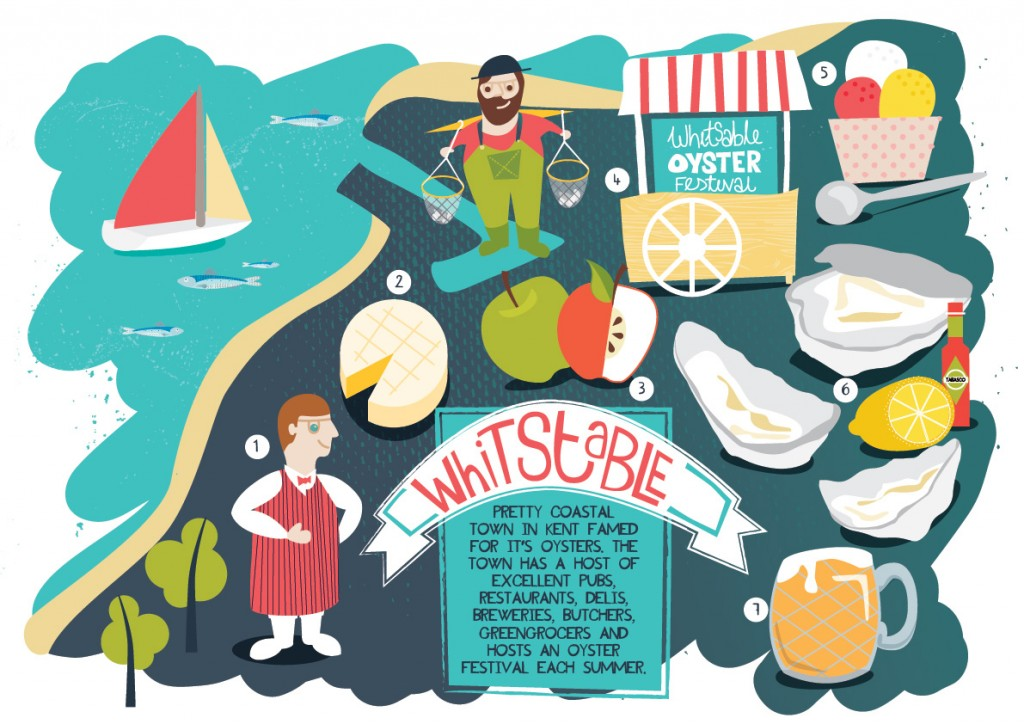 Whitstable Food Map Illustration