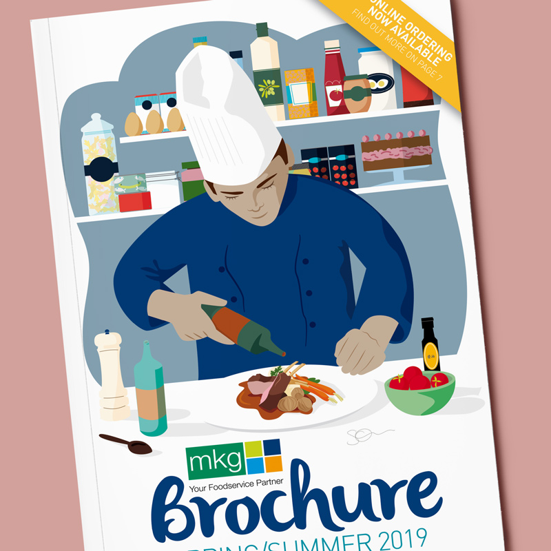Illustration for the cover of a food company brochure