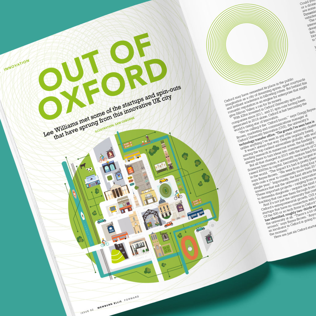 Oxford-Map-Magazine Illustration
