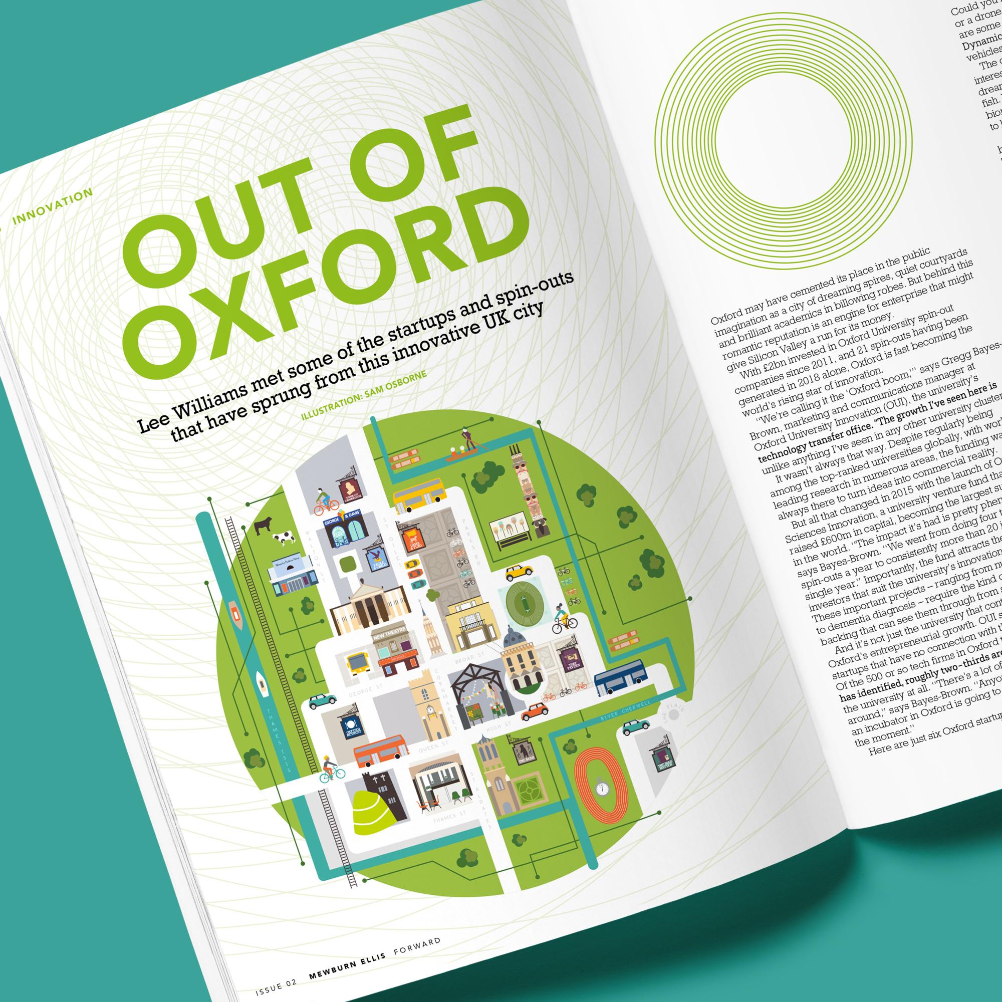 Oxford Map Magazine Illustration