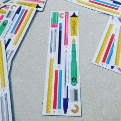 Uppercase Bookmark Illustration