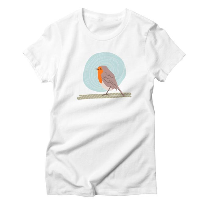 Women's T-Shirt Robin Bird