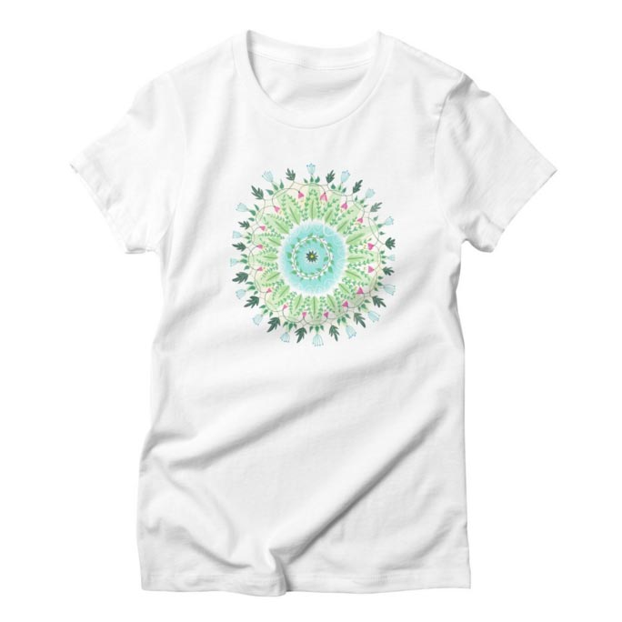 Women's T-Shirt Floral Circle