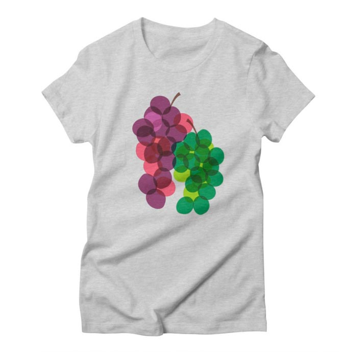 T-Shirt Design Women's Wine Grape