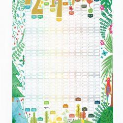 Seasons Illustrations 2017 Wall Planner Calendar