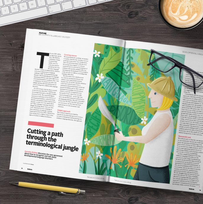 Bulletin Magazine Cover and Spread Illustration Commission