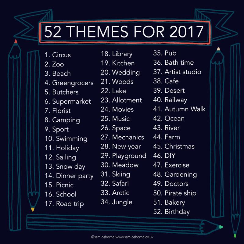 52 weeks 2017 creative challenge