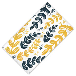 Yellow-Leaves-Floral-Beach-Towel