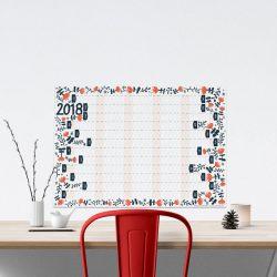 Floral 2018 Wall Planner Sam Osborne