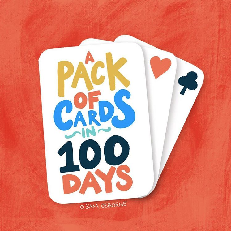 The 100 day project pack of cards in 100 days Sam Osborne