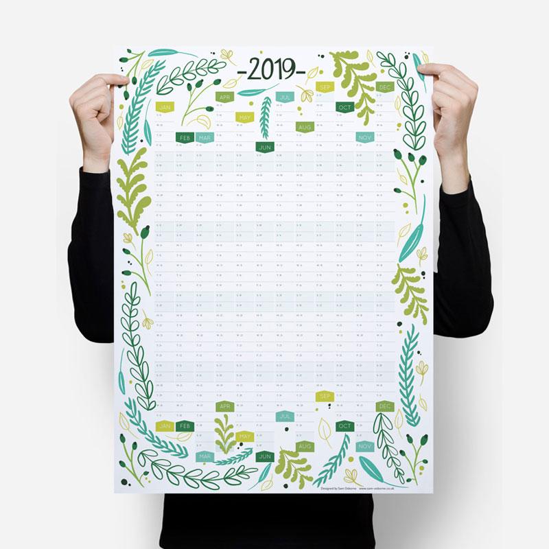 2019 Wall Calendar Planner Sam Osborne