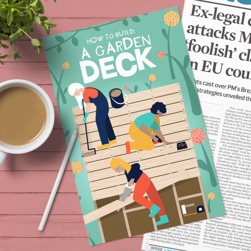 How To Build A Garden Deck Cover Illustration
