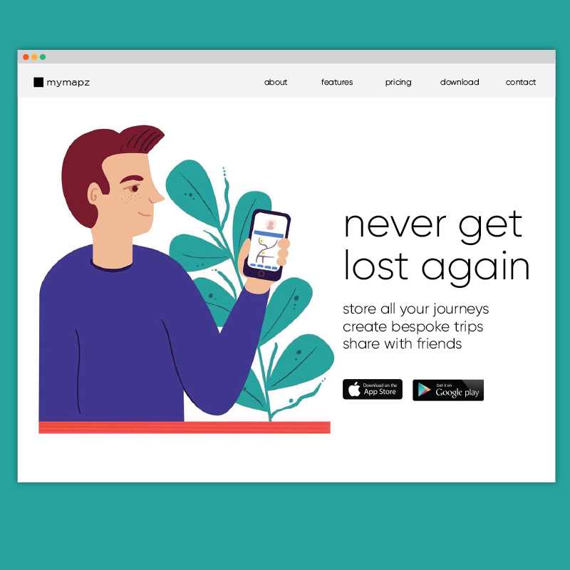 Maps App Website Header Illustration Sam Osborne