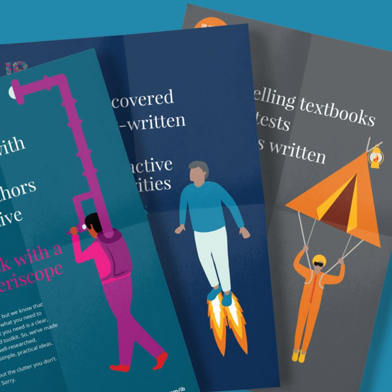 Educational Publisher poster design and illustration