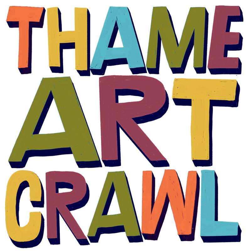 Thame Art Crawl Logo Lettering Design