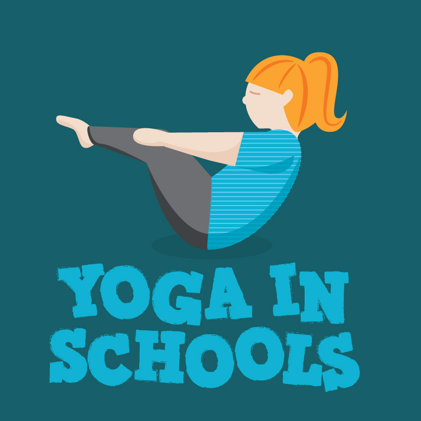 Yoga In Schools Branding Design and Illustration