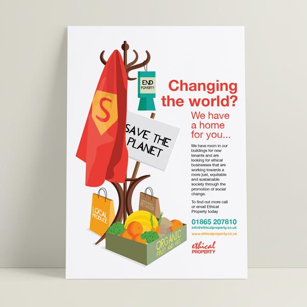 Ethical Property Social Enterprise Illustration and Design