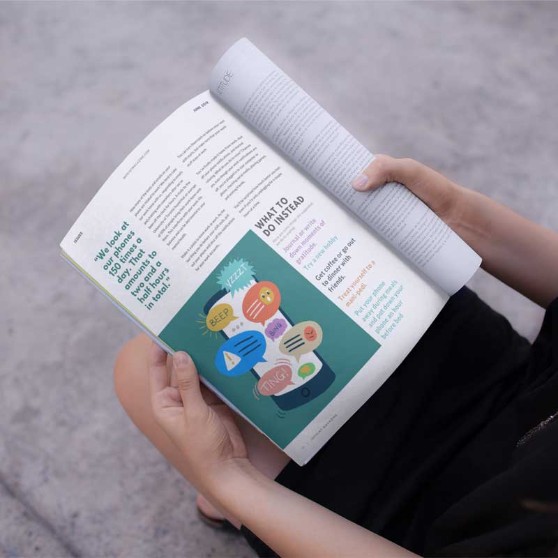 Phone Addiction Editorial Illustration Magazine