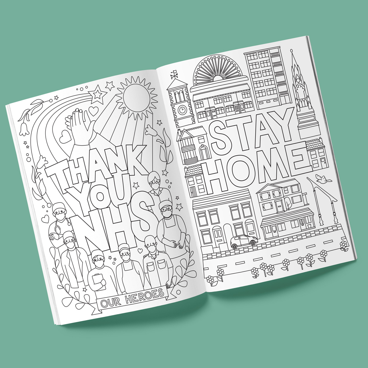 Lockdown Colouring Book Pages