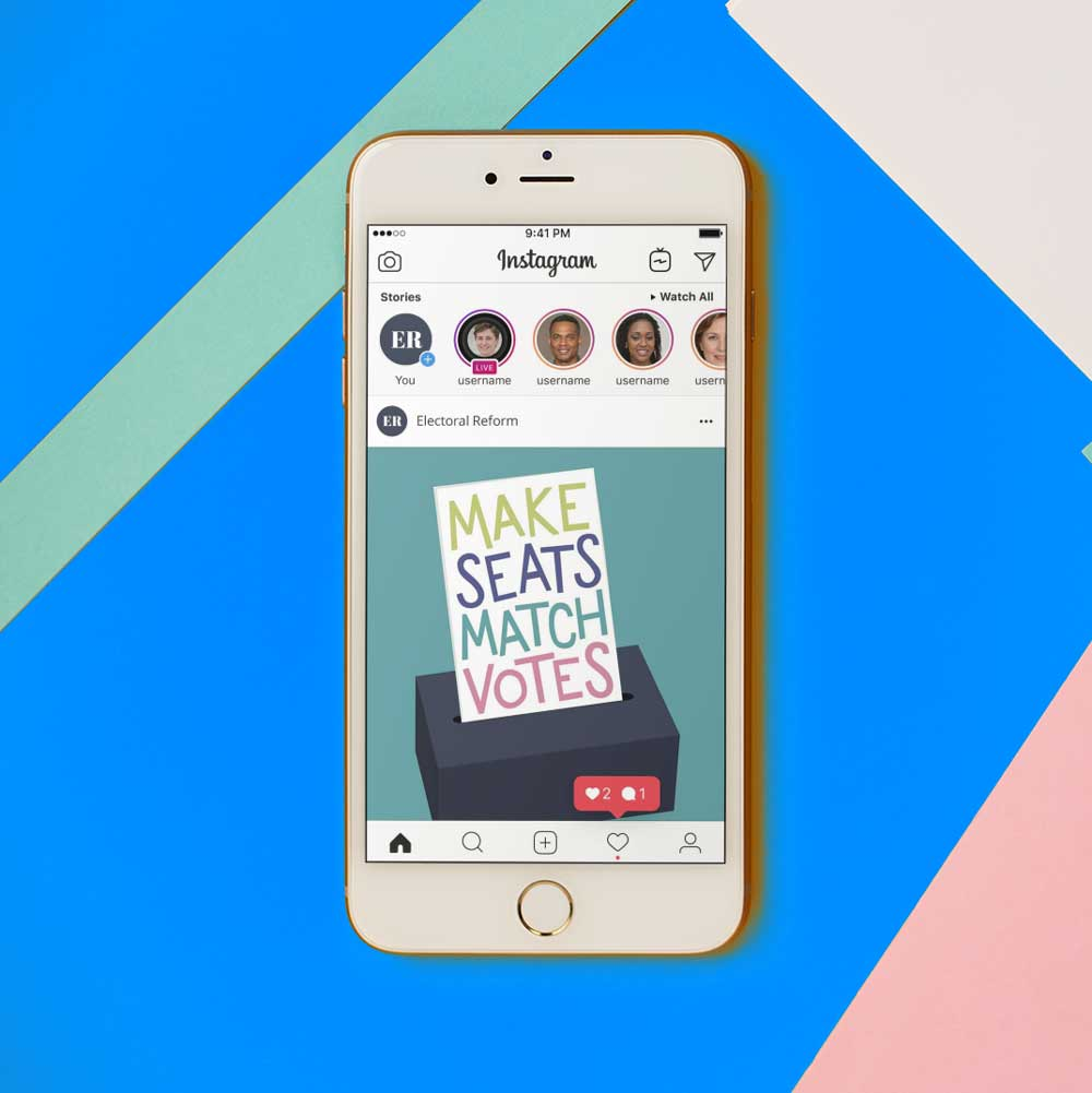 Electoral Reform Campaign Slogan Social Media Illustration