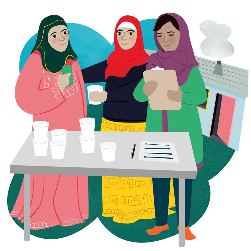 Change Womens World Charity Illustration