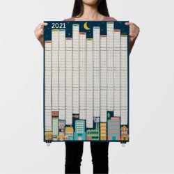 2021 Wall Planner Illustrated City Design