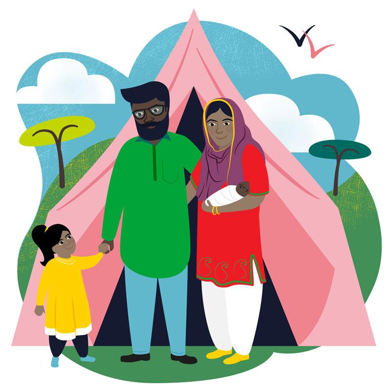 Emergency Shelter Charity Illustration
