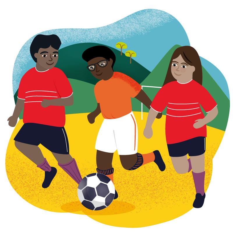 Charity Illustration World Gifts Fabulous Football