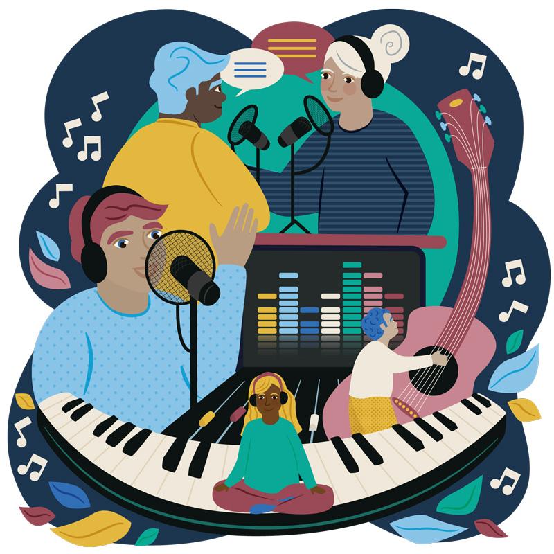 Aptus Audio Music and Sound Recording Website Illustration