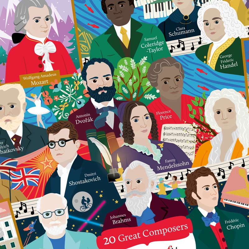 Classic FM Great Composer Jigsaw Puzzle Preview