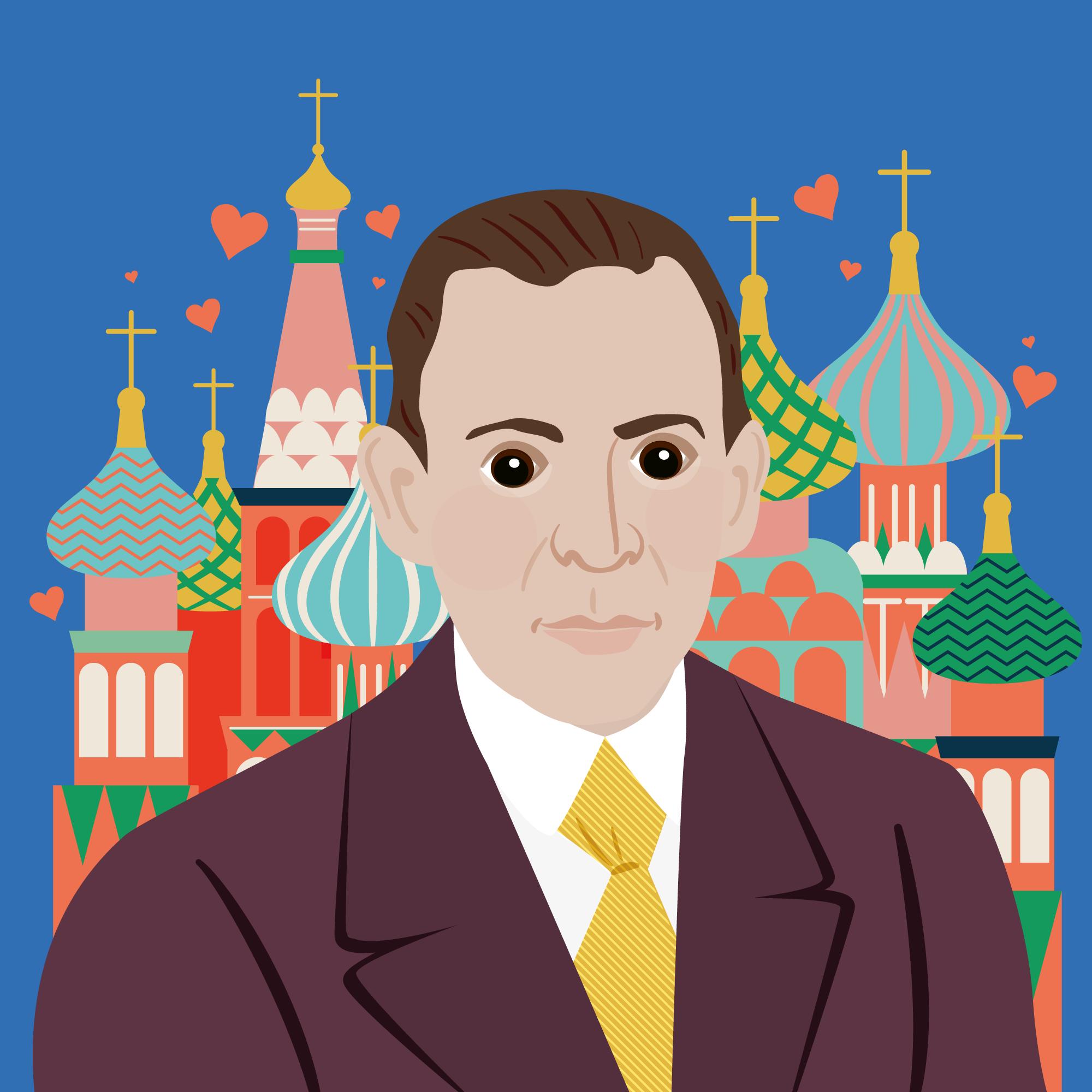 Rachmaninov portrait Illustration Classic FM Hall of Fame
